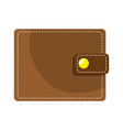 wallet money isolated icon vector image