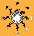 Weekly working life evolution wheel vector image vector image