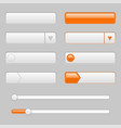 white web interface buttons with orange tags vector image vector image