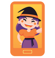 Witch Taking a Selfie vector image vector image