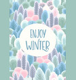 with winter forest template vector image vector image