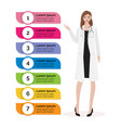 woman doctor with colorful infographic healthcare vector image