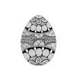 Zentangle stylized black Easter Egg Hand Drawn vector image