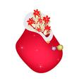 A Santa Bag Full with Christmas Presents vector image