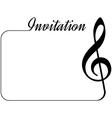 music invitation vector image