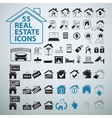 Real Estate icons set business signs vector image
