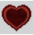 Screw design - heart vector image