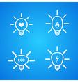 icon set of light bulbs vector image