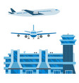 aviation icons airline graphic airplane vector image