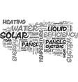 a key element in solar panels efficiency text vector image vector image
