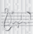 Abstract G clef and note music vector image