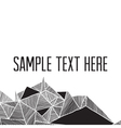 abstract geometric modern background square frame vector image
