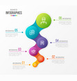 abstract infographic design 6 steps vector image vector image
