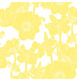 anemone seamless pattern yellow line flowers vector image vector image