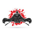 angry spartan warrior with swords vector image vector image
