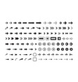 arrows black and white icons set vector image