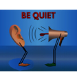 Be quiet Warning cartoon vector image vector image