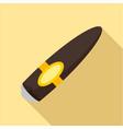 big brown cuban cigar icon flat style vector image vector image