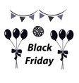 black balloons on a white background vector image vector image