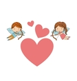 Boy and girl angel icon Love design vector image vector image