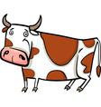 cartoon of farm cow vector image vector image