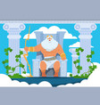 cartoon zeus legendary god character ancient vector image