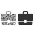 case mosaic of service tools vector image
