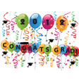 Celebrating graduation day vector image