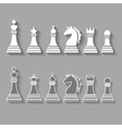 chess pieces including king queen rook pawn vector image vector image