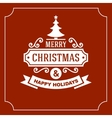 Christmas Retro Typographic Background vector image vector image