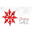 christmas sale red decoration for winter discount vector image