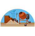 construction work with tools vector image vector image