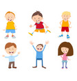 cute cartoon children set vector image vector image