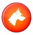 Dog icon flat style vector image vector image