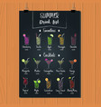 drink alcohol cocktail beverage smoothie tropical vector image