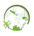 dropshipping bussines paper art icon vector image vector image