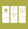 eco fresh food natural premium vegan food banners vector image vector image