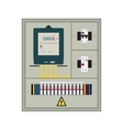 Electrical panel box vector image vector image