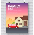 Family car with house home concept on vector image