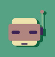flat icon design collection toy robot face in vector image vector image