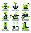 flat icon set for green eco garden vector image