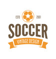football or soccer club logo set template vector image