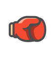 gloves for boxing icon cartoon vector image