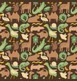 green brown animals vector image vector image