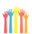 hands in the air vector image vector image