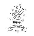 happy independence day doodle style vector image vector image