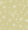 hawaiian floral pattern vector image vector image