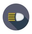 Headlight icon vector image vector image