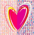 Heart V vector image