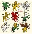 heraldic beasts vector image vector image